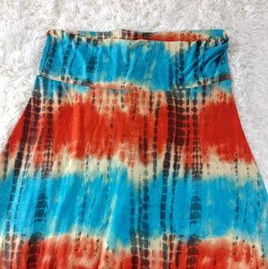 Lularoe Tie Dye Maxi Skirt size 2x